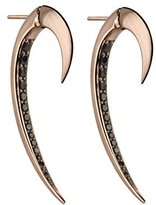 Shaun Leane Women's Sterling Silver and Rose Gold Vermeil Black Spinal Hook Earrings