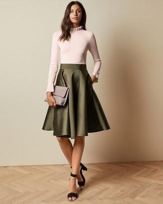 Ted Baker ZADI Frill neck full skirt dress