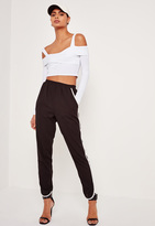 Missguided Ribbed Supported Bardot Crop Top