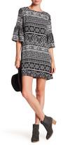 Lucy-Love Lucy Love 3/4 Sleeve Print Dress