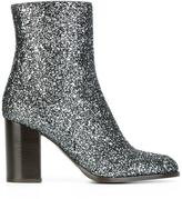 Veronique Branquinho glitter boots - women - Cotton/Acrylic/Polyamide/Bos Taurus - 36.5