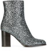 Veronique Branquinho glitter boots - women - Cotton/Acrylic/Polyamide/Bos Taurus - 37.5