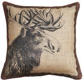 The Watson Shop Moose Burlap Pillow
