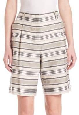 Lafayette 148 New York Striped Rivington Shorts