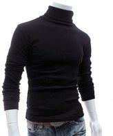 Gracefulvara Men Thermal Cotton Turtleneck Sweater Stretch Shirt (L, )