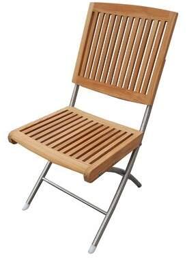Treyvon Folding Teak Chair Rosecliff Heights