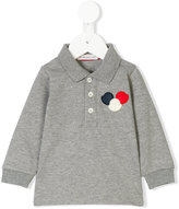 Moncler long sleeve polo shirt - kids - Cotton/Spandex/Elastane - 3-6 mth