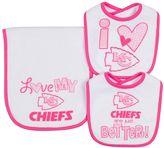 Gerber Baby Kansas City Chiefs 3-Piece Bib & Burpcloth Set