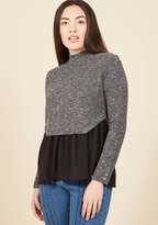Take Your Turnover Long Sleeve Top in Granite in S