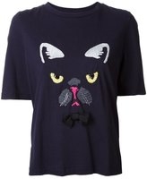 Muveil dog embroidery T-shirt
