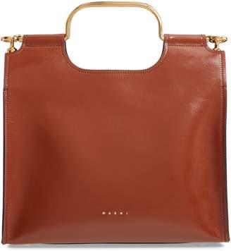 Marni Marcel Top Handle Leather Bag