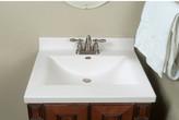 "Imperial Star Center Wave Bowl 25"" Single Bathroom Vanity Top"