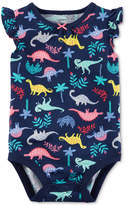 Carter's Dinosaur-Print Cotton Bodysuit, Baby Girls