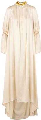 Roksanda Able cream silk-satin maxi dress