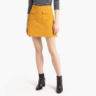Benetton Short Corduroy Skirt