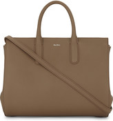 Max Mara Expandable leather tote