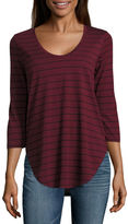 A.N.A a.n.a 3/4 Sleeve Scoop Neck T-Shirt-Womens