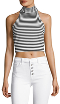 Torn By Ronny Kobo Striped Halter Top