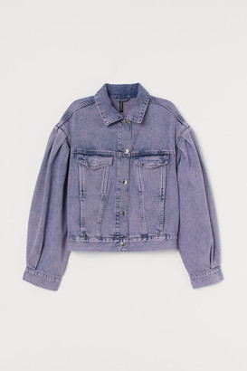H&M Boxy Denim Jacket - Purple