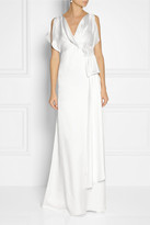 Temperley London Rosemary wrap-effect silk-satin gown