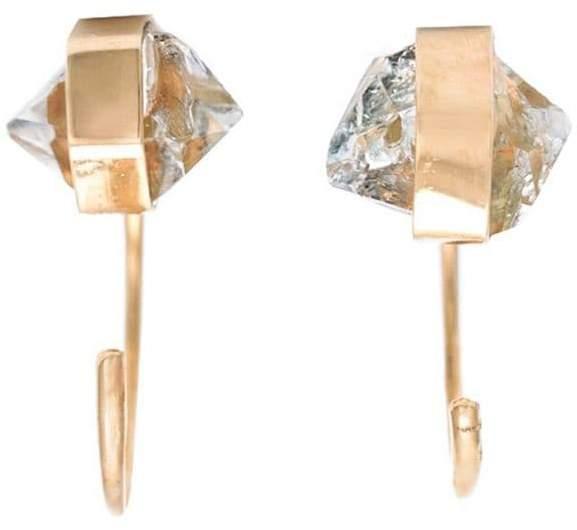 Melissa Joy Manning Herkimer diamond hug hoops