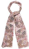 Tory Burch Floral Wool Scarf