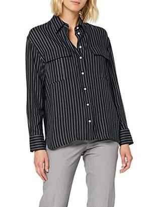 Seidensticker Women's Hemdbluse Langarm Modern Fit Uni mit Brusttaschen-100% Viskose Blouse,20 (Size:)