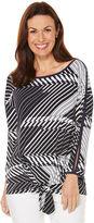 Rafaella Printed ITY Knit Blouse