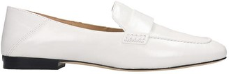 Michael Kors Emery Loafers In White Leather