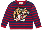 Gucci Baby tiger intarsia wool sweater
