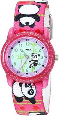 Timex Girls TW7C77100 Time Machines Elastic Fabric Strap Watch