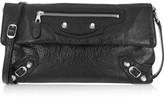 Balenciaga Giant 12 Envelope Textured-leather Shoulder Bag - Black