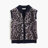 J.Crew Girls' leopard faux-fur vest