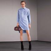 Burberry Cotton Chambray Tunic Shirt Dress