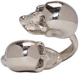 Alexander McQueen Silver Twin Skull Ring