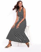 Talbots Valencia Stripes Halter Dress