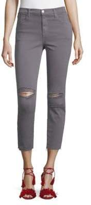 J Brand Alana Photoready Distressed Cropped Skinny Jeans