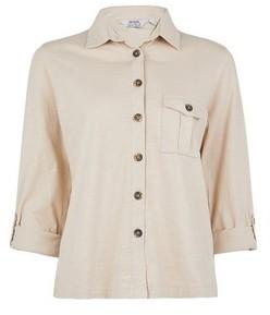 Dorothy Perkins Womens Petite Stone Jersey Shirt