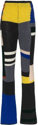Eckhaus Latta Panelled Knitted Flared Trousers