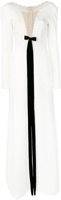 Loulou Plunging Neckline Gown