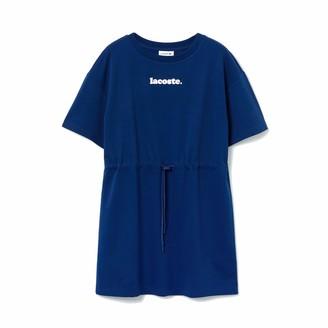 Lacoste Women's Short Sleeve Belted T-Shirt Dress