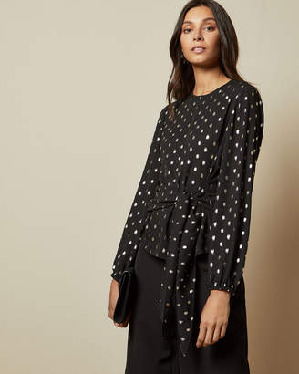 Ted Baker NAIOMY Flecked wrap top