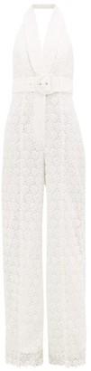 Zimmermann Super Eight Guipure-lace Jumpsuit - Womens - Ivory