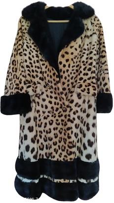 Harrods Yellow Fur Coat for Women Vintage