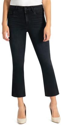 KUT from the Kloth Kelsey High Waist Raw Hem Crop Flare Jeans