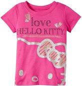 Hello Kitty Love Glitter Tee (Toddler/Kid) - Fuchsia Purple - 6