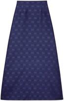 Gucci Diagonal GG stripe wool silk skirt