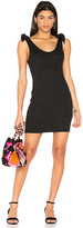 MinkPink Tongue Tied Tie Shoulder Dress in Black. - size L (also in M,S,XS)