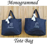 Etsy 5 Personalized Bridesmaid Tote Bag Personalized Tote, Bridesmaids Gift, Monogrammed Tote, Gift for H