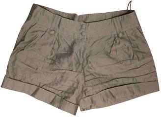 Erotokritos Khaki Cotton Shorts for Women